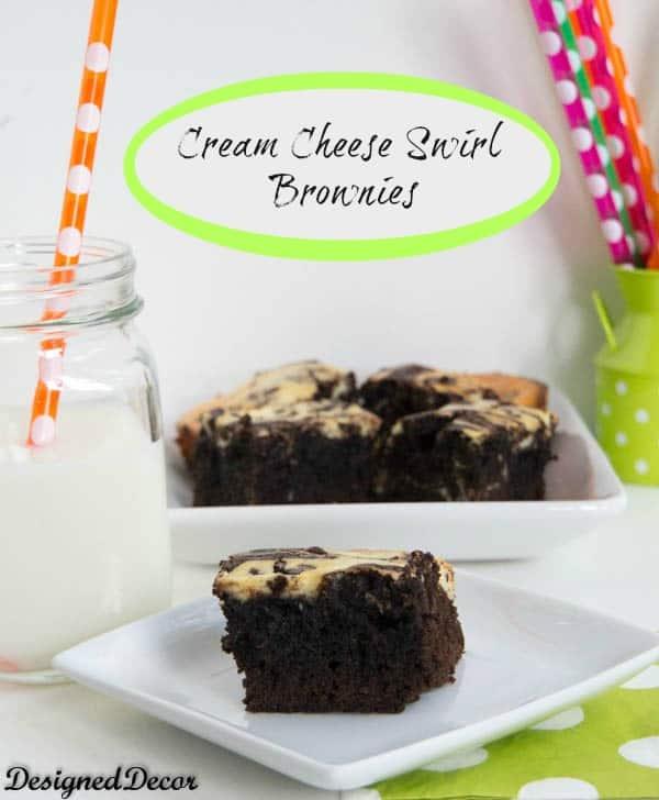 Cream Cheese Swirl Brownies!
