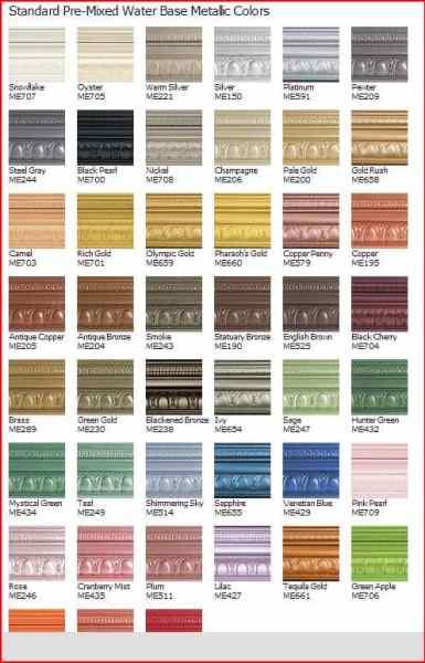 modern masters mettalic colors