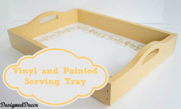 painting a serving tray-http:www.designeddecor.com