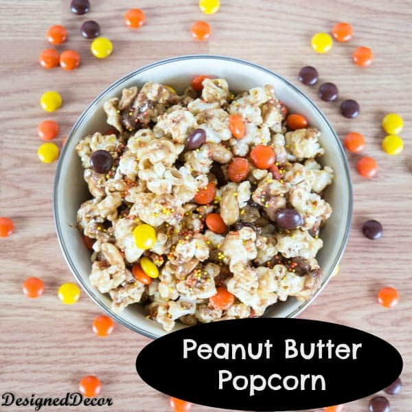 Peanut Butter Popcorn with Reese's