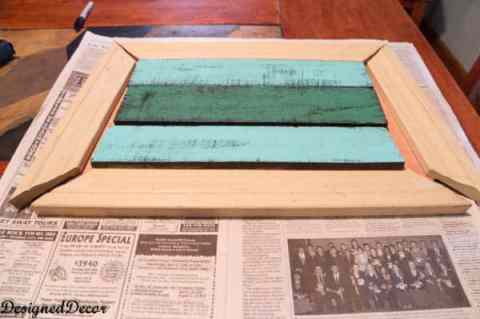 Making a frame for Pallet- Wall- Art