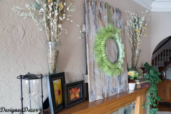 Spring Decorating with a picket fence