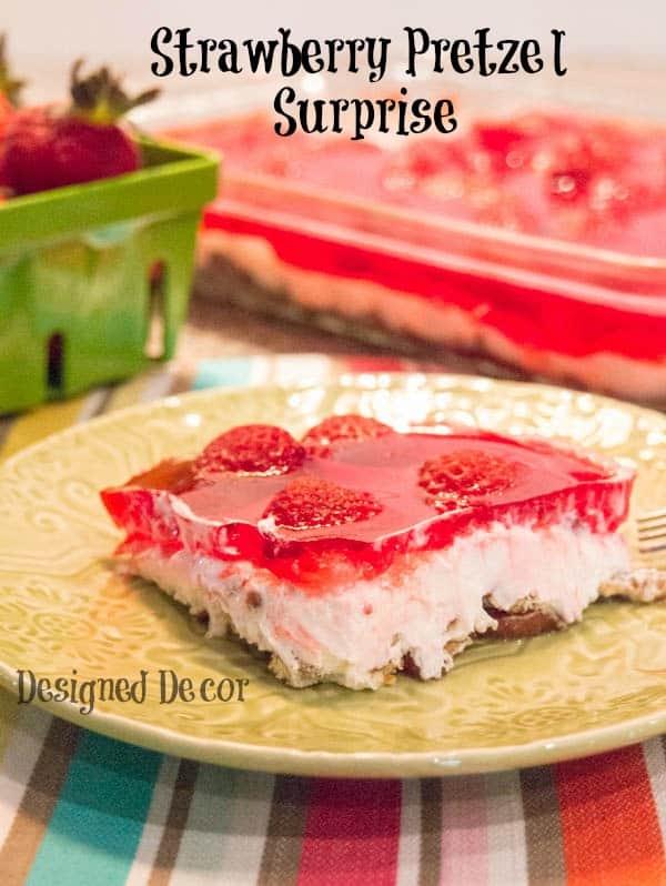 strawberry pretzel surprise dessert