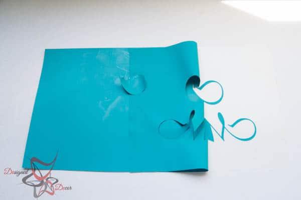 Peel back Silhouette Heat Transfer material