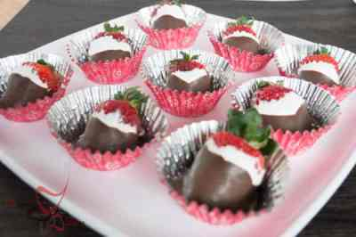 Marshmallow and Chocolate covered Strawberries
