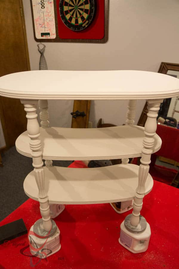 Kidney Accent Table- 2 coats of Old Town Paints