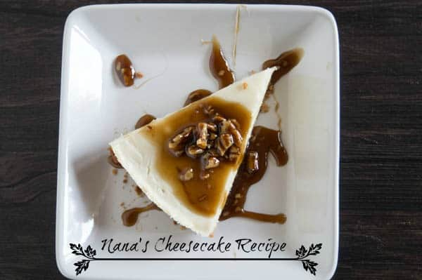 Nana's Cheesecake Recipe - Praline Topping
