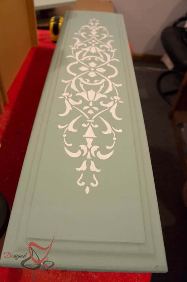 Repurposed Drawer Fronts - Royal Design Stencils- embossing medium