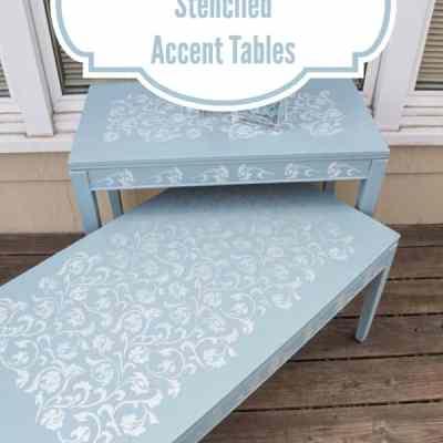 Stenciled Accent Tables ~ #RoyalDesignStudio