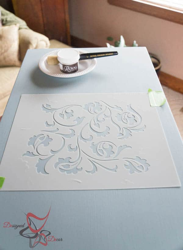Centering stencil-Scroll Side Tables