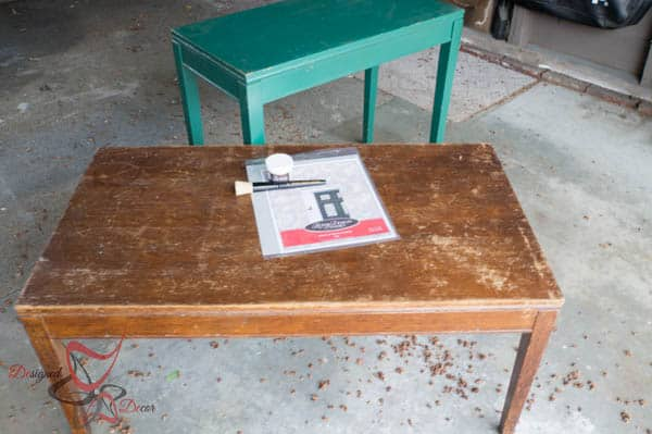 Stenciled Accent Tables- before