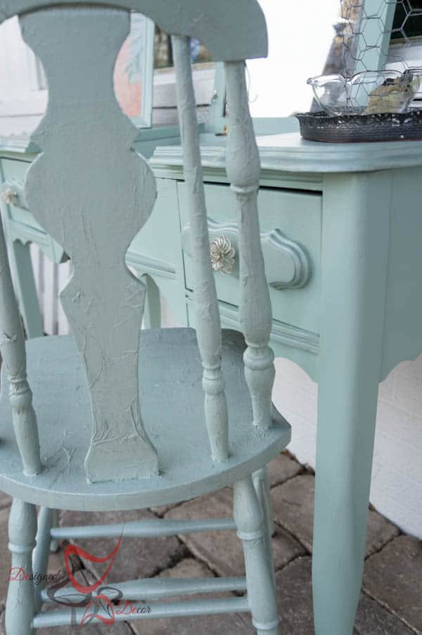 Stenciled Vanity - Tissue Paper Chair-