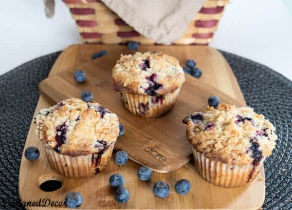 Blueberry Muffins- Crumb Topping