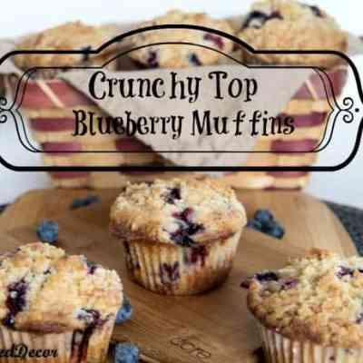 Crunchy Top Blueberry Muffins!
