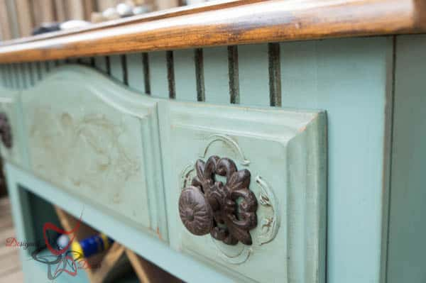 Repurposed Dresser ~ Wine Bar- Embossed dresser