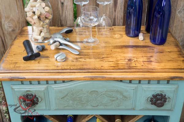 Dresser used as a Wine Bar