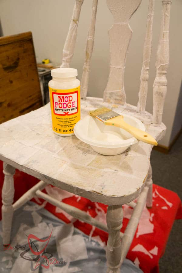 Sealing Tissue Paper Chair- Mod Podge