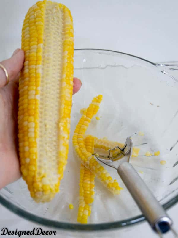 Simple corn on the cob removal