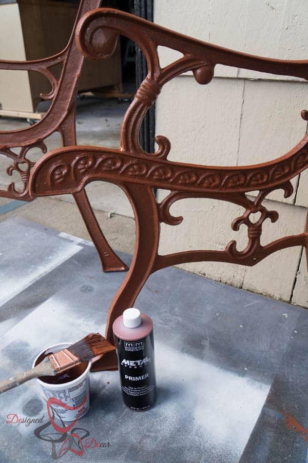 Bench Make over ~ Metal Effects~ Applying primer