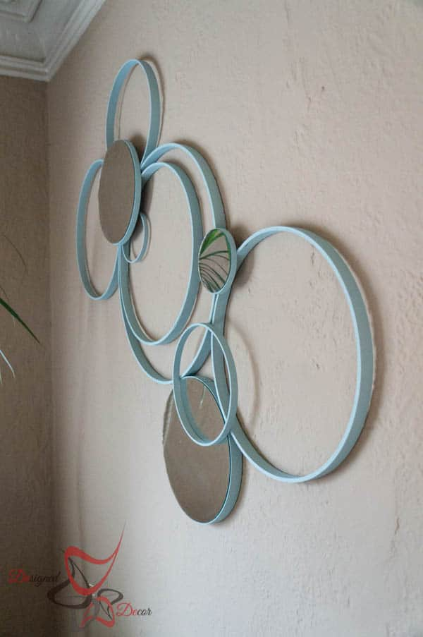Circle Wall Decor with Embroidery Hoops! ~- Designed Decor