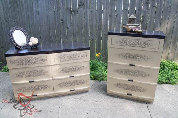Gold Embossed Dressers~ Wood Icing ~ Modern Masters-7