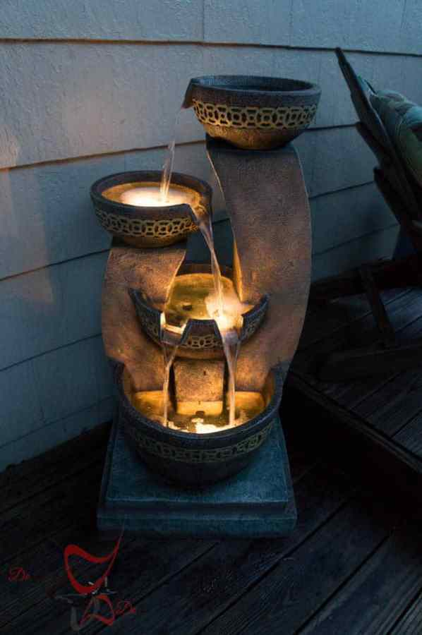 Lighted Water Fountain~ Lamps Plus~ Water Feature-9