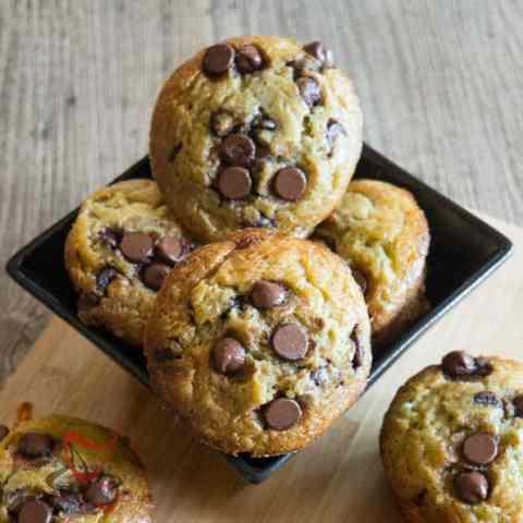 Zucchini Chocolate Chip Muffins!