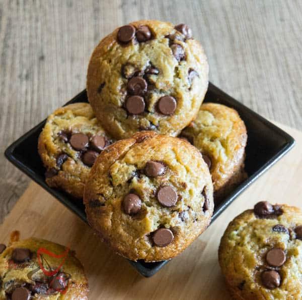 Chocolate Chip Muffins with Zucchini
