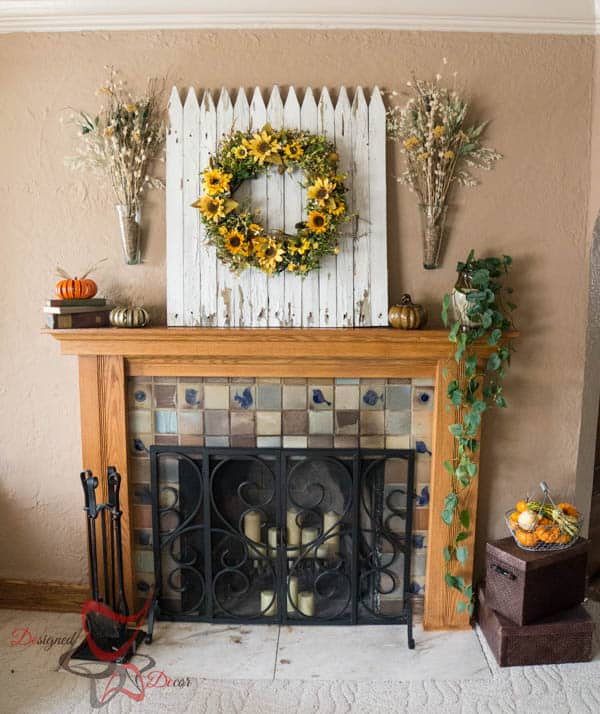 2014 Fall Home Decor~ Fall Mantel