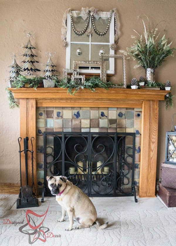 Christmas Mantel 2014- Holiday Wishes