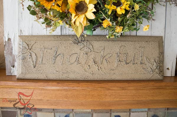 Thankful Plaque- Repurposed Drawer Front -Wall Decor-