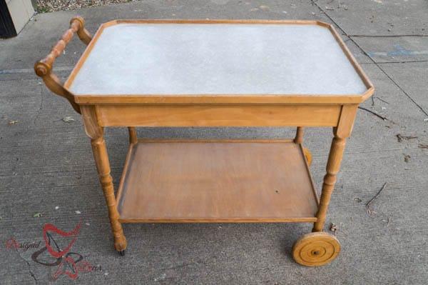 Repurposed Wine Cart