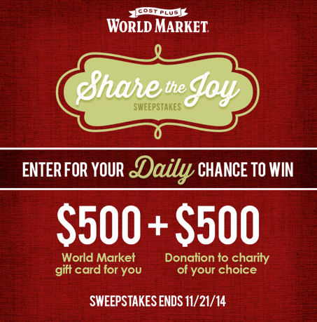 Share the Joy ~ World Market #Sharethejoy_WM