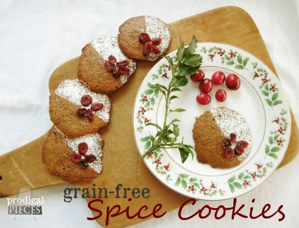 Grain free Spice Cookies- Cookie Round-up