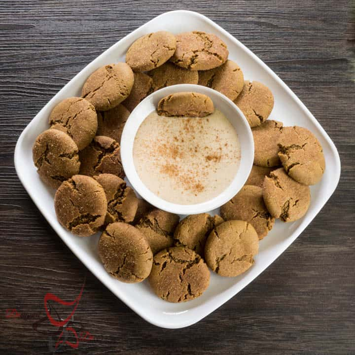 The best Ginger Snap Cookies with Egg Nog Dip-