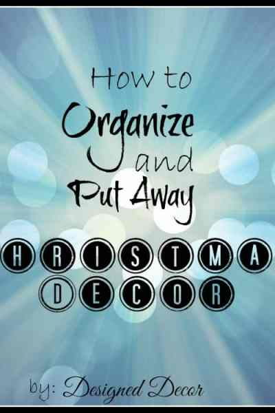 How to Organize Christmas Decor!