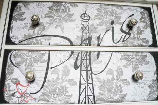Eiffel Tower Dresser-DIY-Furniture-Stencils