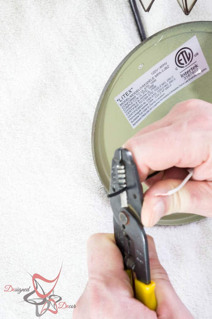 Easy steps to hard wire any light fixture