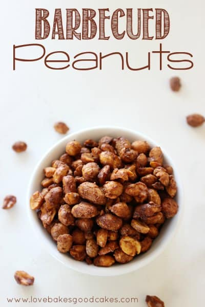 Love Bakes good Cakes- Barbeque Peanuts