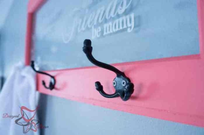 Repurposed Window Coat Hook-