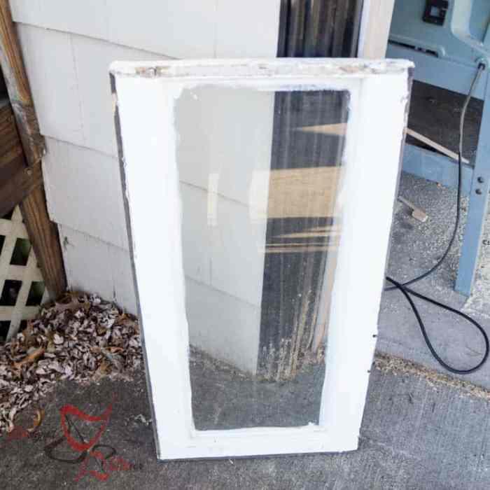 Repurposed Window Coat Hook- Before