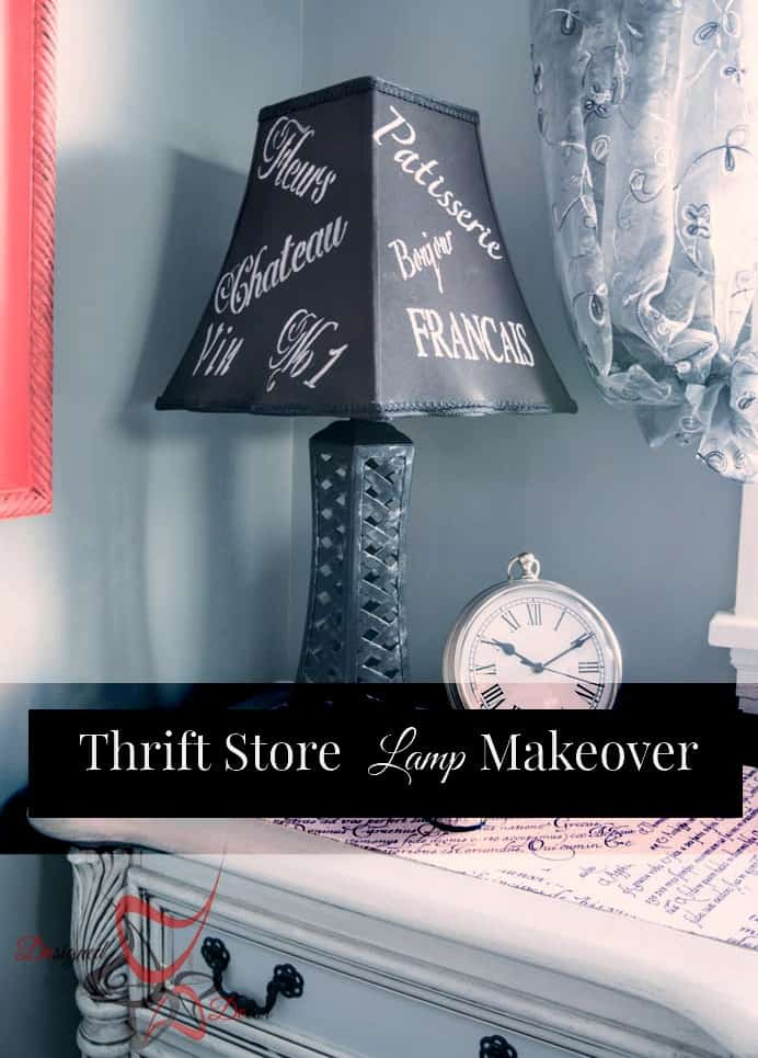 Thrift Store Lamp Makeover with Americana Multi-surface paint by Decor Art