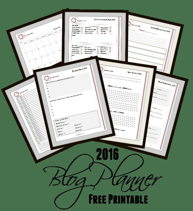 free printable- 2016-blog-planner