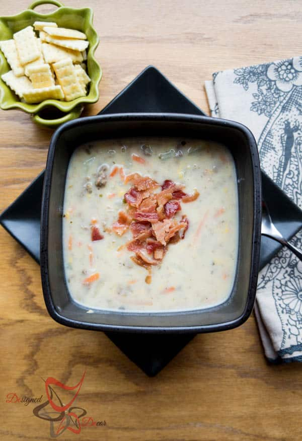 Bacon Cheeseburger Soup-Recipe