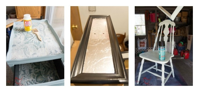 How to Decoupage Furniture - Step 3 - Sealing Material