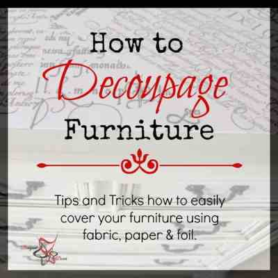 how to decoupage furniture graphic