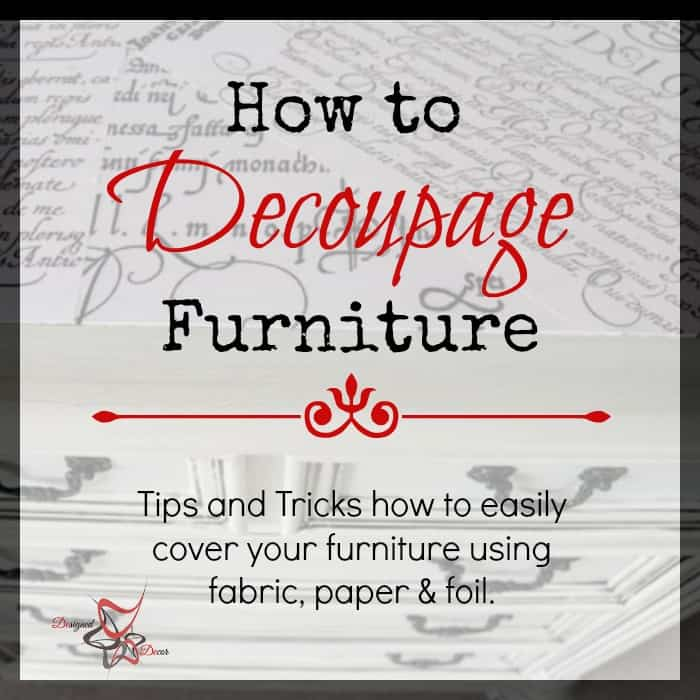 Genial How To Decoupage Furniture