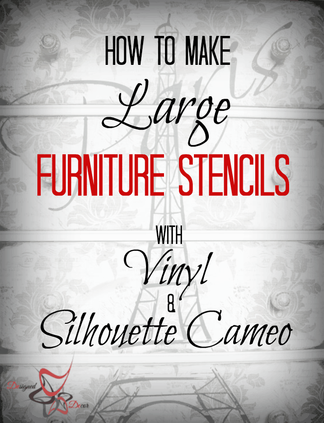 how to make large furniture stencils using vinyl and a. Black Bedroom Furniture Sets. Home Design Ideas