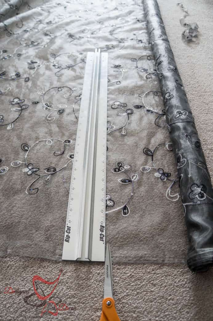 No Sew Scarf Valance-How to measure and cut