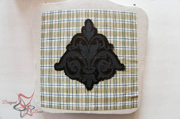 How to Stencil Fabric-Using Chalk Paint